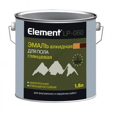 Эмаль для пола алкидная Элемент LP-060 золотисто-коричневая 1,8 л