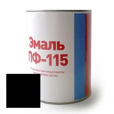 Эмаль алкидная полуматовая ПФ-115 Discount черная 0,8 кг