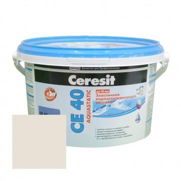 Затирка для швов 1-10 мм CE 40 Aquastatic жасмин Ceresit 2 кг