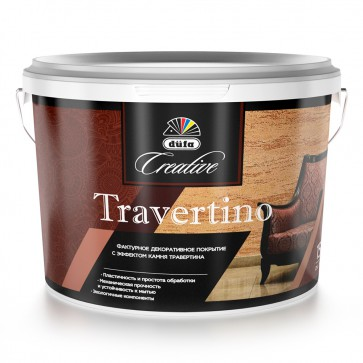 Покрытие декоративное Travertino 15 кг Dufa Creative