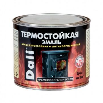 Эмаль термостойкая кремнийорганическая Dali серебряная 0,4 л