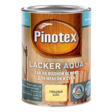 Лак мебельный акриловый глянцевый Lacker Aqua 70 Pinotex 1 л