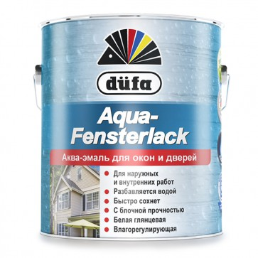Эмаль для окон глянцевая Dufa Aqua-Fensterlack белая 0,75л