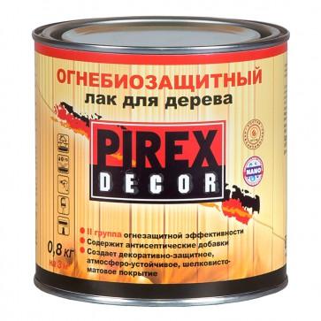 Лак огнебиозащитный алкидный для древесины полуматовый Pirex Декор 0,8 кг