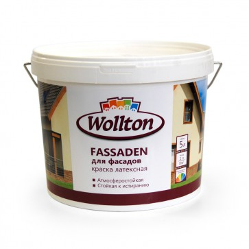 Краска фасадная латексная водно-дисперсионная Fassaden Wollton 2 л