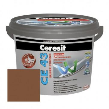 Затирка для швов 5-20 мм CE 43 Super Strong светло-коричневая Ceresit 2 кг