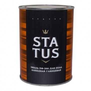 Эмаль для пола алкидная ПФ-266 Status красно-коричневая 1,8 кг
