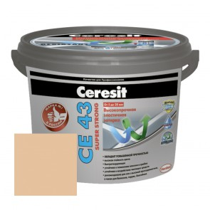 Затирка для швов 5-20 мм CE 43 Super Strong карамель Ceresit 2 кг