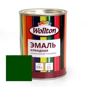 Эмаль алкидная глянцевая Wollton зеленая 0,9 кг