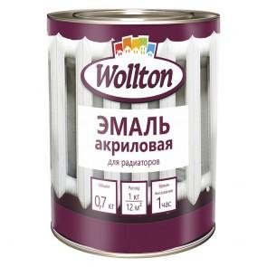 Эмаль для радиаторов полуматовая Wollton 0,7 кг белая