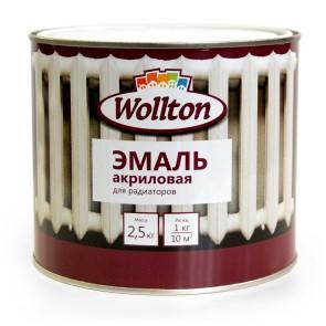 Эмаль для радиаторов полуматовая Wollton 2,5 кг белая
