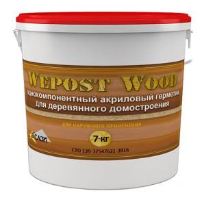 Герметик для дерева Wepost Wood дуб темный 7 кг