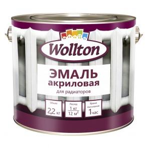 Эмаль для радиаторов полуматовая Wollton 2,2 кг белая