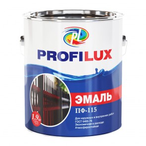 Эмаль глянцевая ПФ-115 Profilux белая 1,9 кг