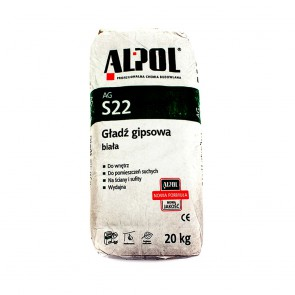 Шпаклевка гипсовая гладь AGS 22 20 кг Alpol