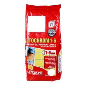 Затирка для швов 1-6 мм белая LITOCHROM 1-6 Litokol 5 кг