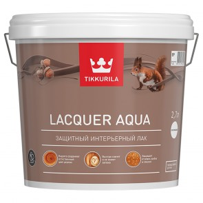 Лак интерьерный защитный матовый Tikkurila Lacquer Aqua база EP 2,7 л