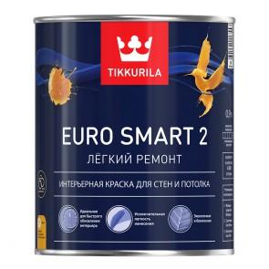 Краска интерьерная акриловая матовая Euro Smart 2 база VVA 0,9 л Tikkurila